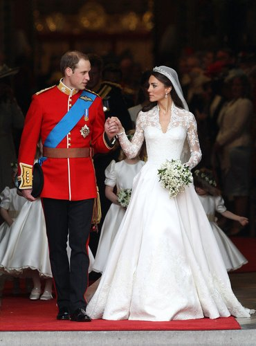 Prinz William und Kate Middleton in der Kirche