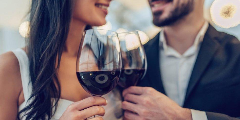Paar Rotwein