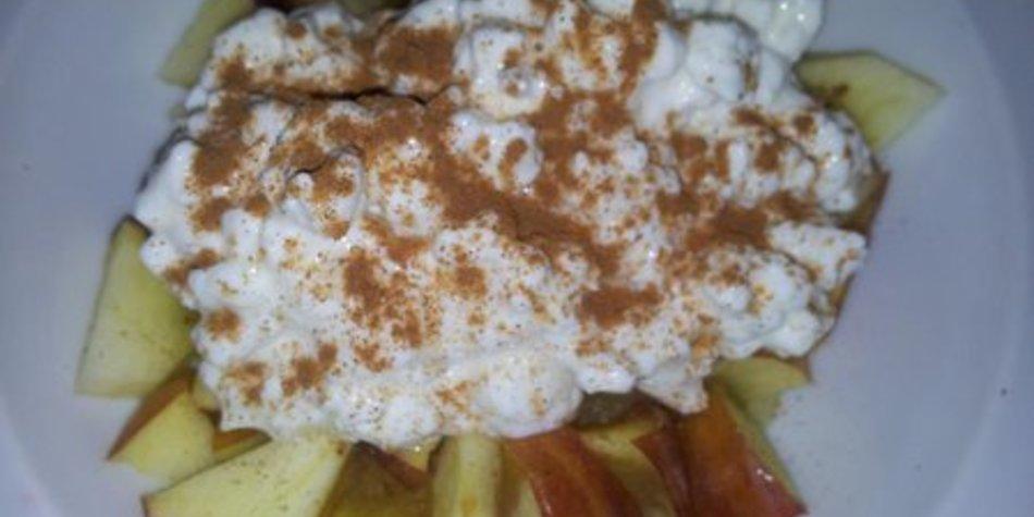 Apfel-Quark mit Zimt