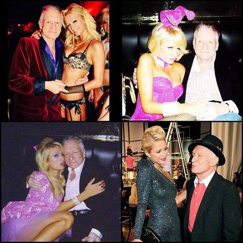 Paris Hilton denkt an Hugh Hefner
