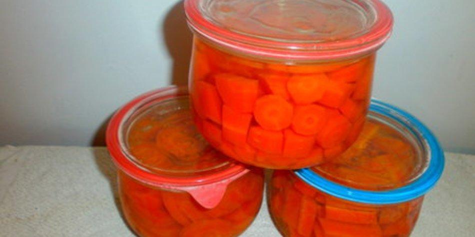 Karotten einwecken..