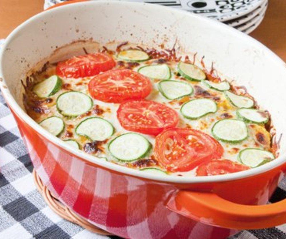 Tomaten Zucchini Auflauf