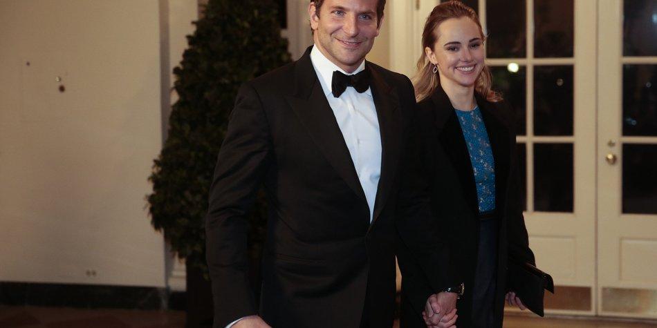 Bradley Cooper besucht mit Suki Waterhouse das Weiße Haus