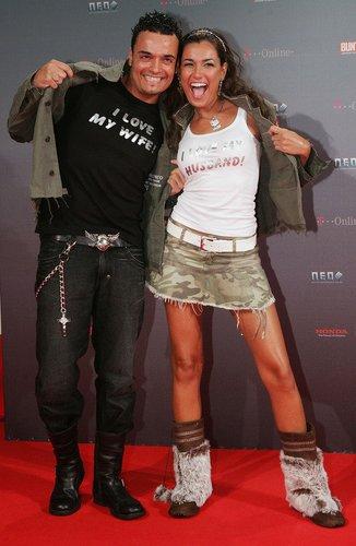 Giovanni und Jana Ina Zarrella als Paar bei den 'Neo Awards' 2005 in Berlin.