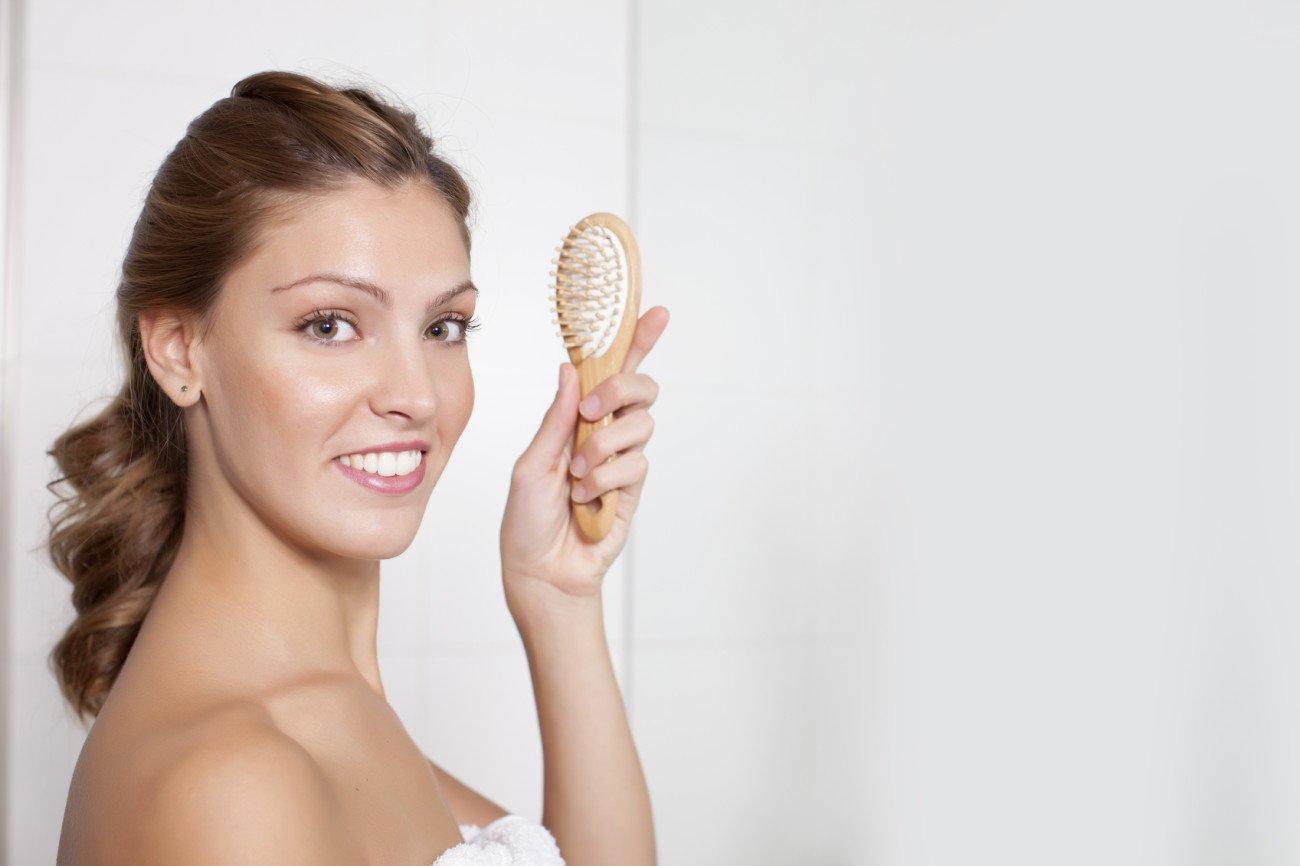 Bürsten gegen trockene Kopfhaut