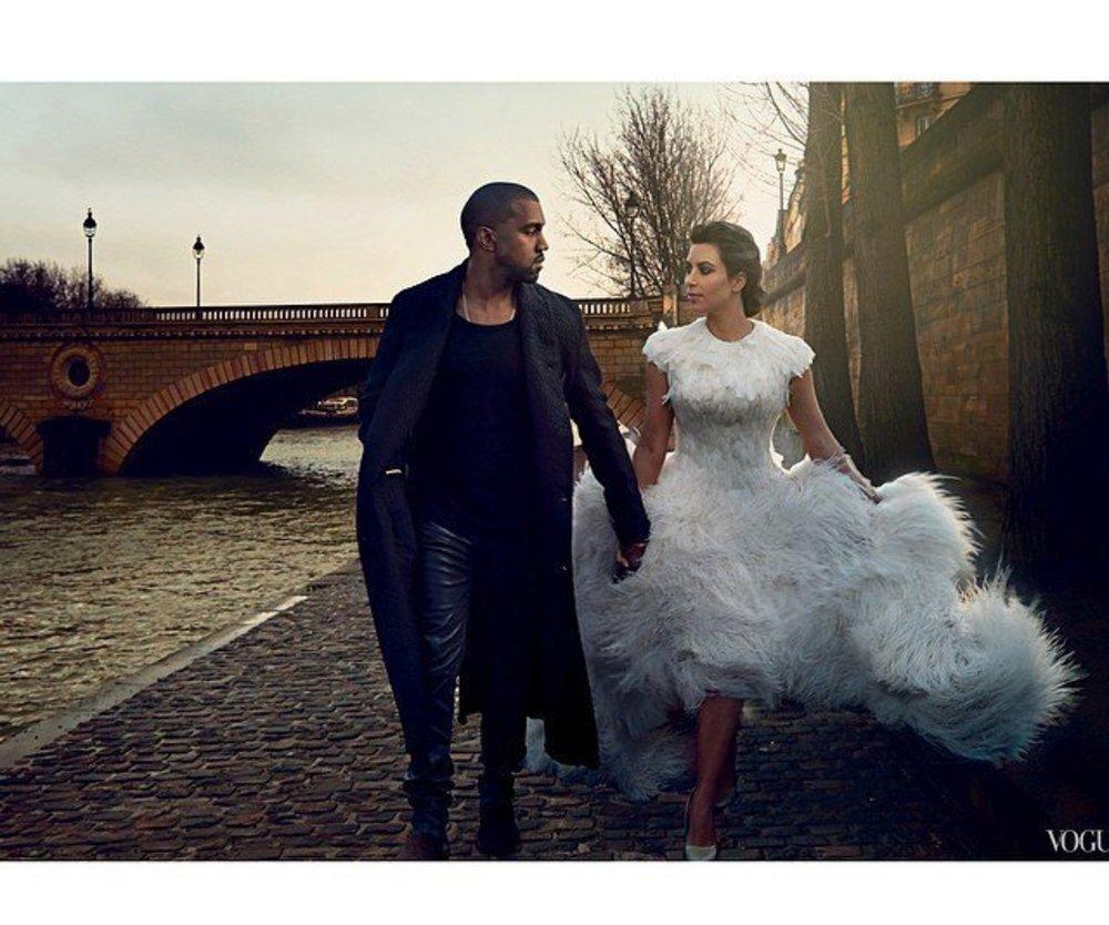 Kim Kardashian und Kanye West: Intime Einblicke in der Vogue