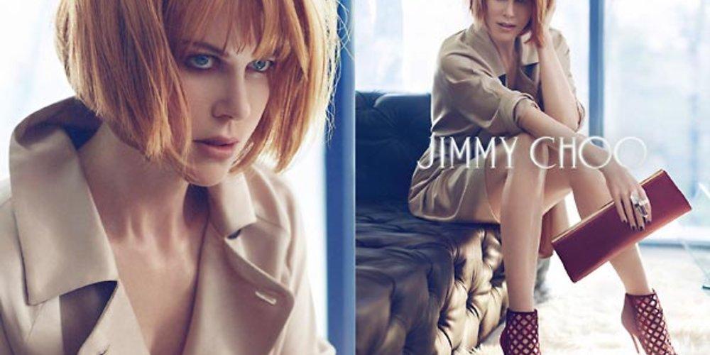 Nicole Kidman wirbt mit kinnlangem Bob für Jimmy Choo