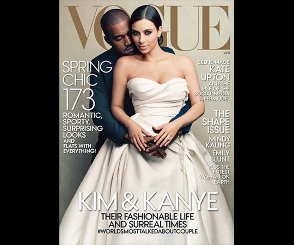 Kim Kardashian Kanye West, Vogue