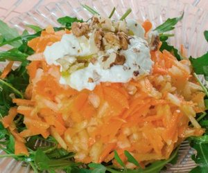 Karottensalat mit Sahne
