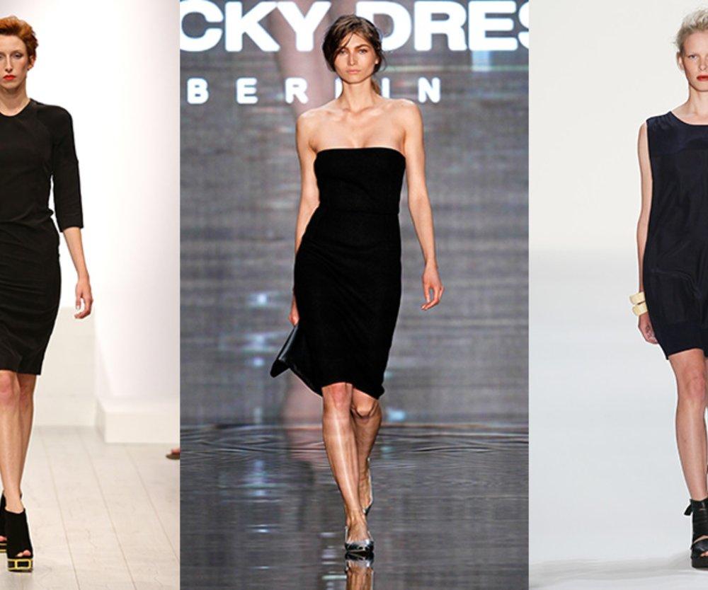 Das Kleine Schwarze Ein Kleid Fünf Styling Möglichkeiten Für Jede