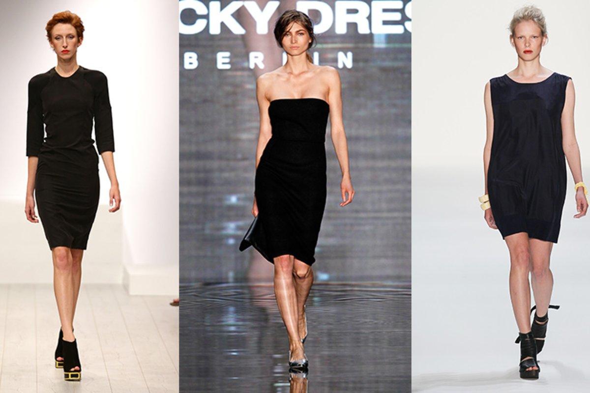 das kleine schwarze: ein kleid, fünf styling-möglichkeiten