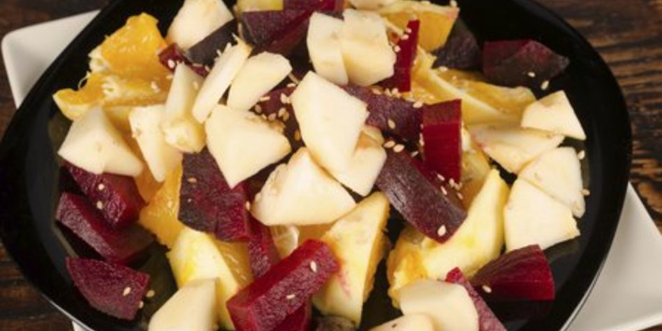 Rote Bete Salat mit Apfel