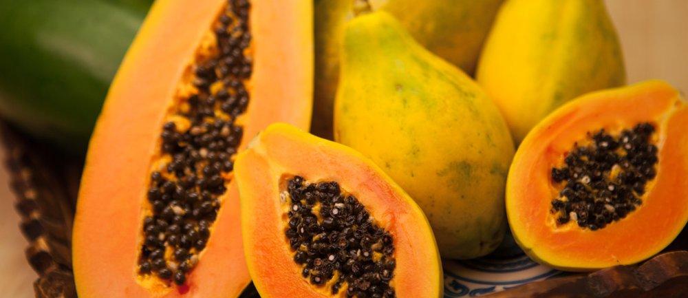 Wie isst man eine Papaya