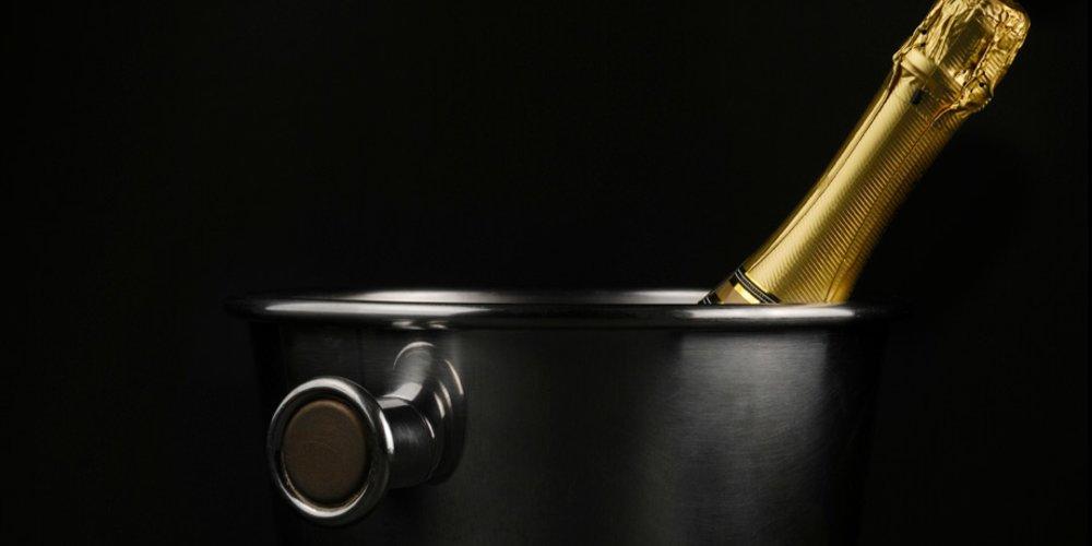 Champagner im Kühler