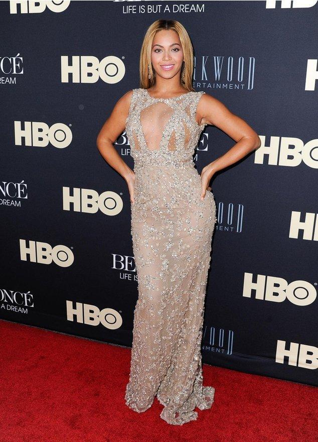 Beyonce auf dem Roten Teppich
