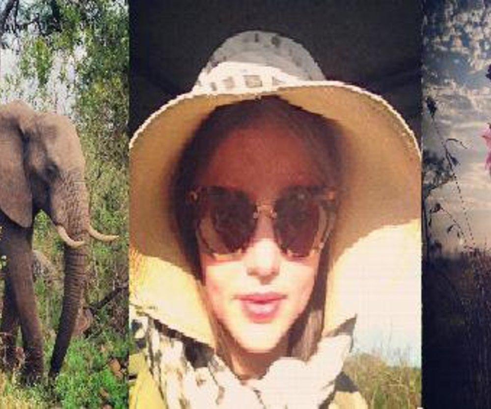 Miranda Kerr allein auf Safari