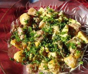 Kartoffelsalat aus dreierlei Kartoffeln