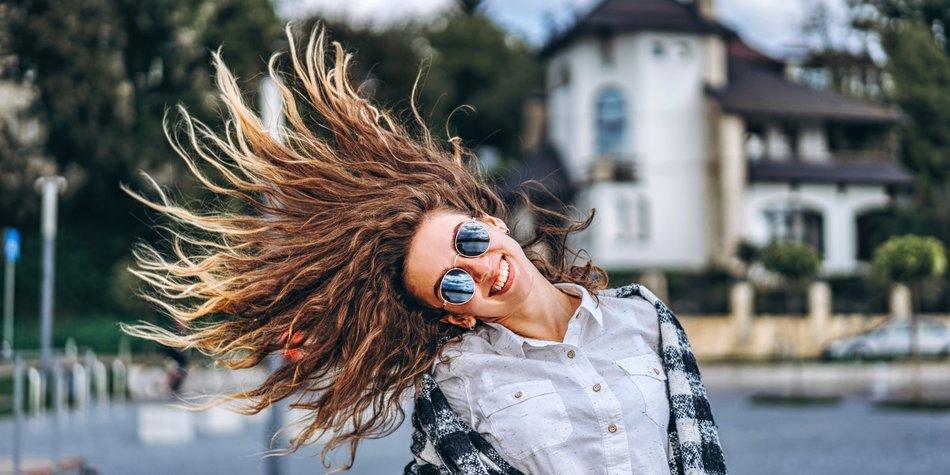 Frisuren-Trick Socke im Haar