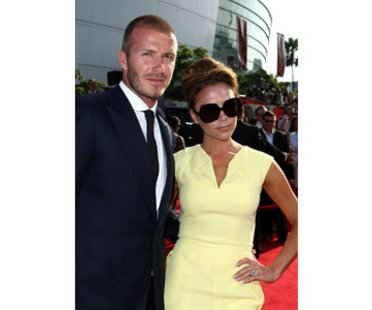 Victoria und David Beckham auf dem roten Teppich