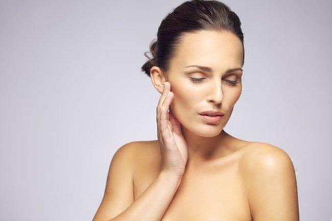 Frau mit schöner Haut