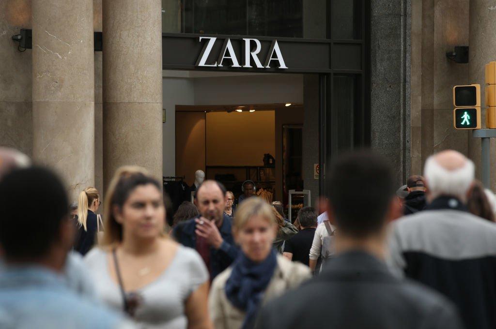 Auch der Moderiese Zara ist von dem Minusgeschäft betroffen.