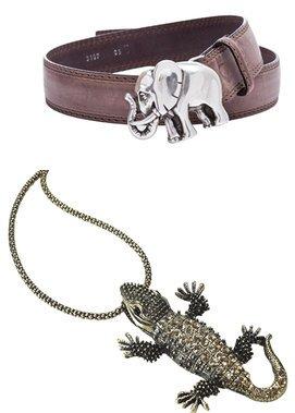Elefanten- und Krokodil-Accessoires