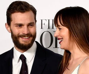 """attends the UK Premiere of """"Fifty Shades Of Grey"""" at Odeon Leicester Square on February 12, 2015 in London, England."""