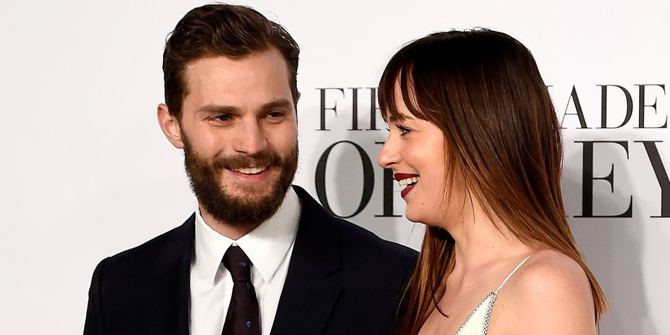 "attends the UK Premiere of ""Fifty Shades Of Grey"" at Odeon Leicester Square on February 12, 2015 in London, England."