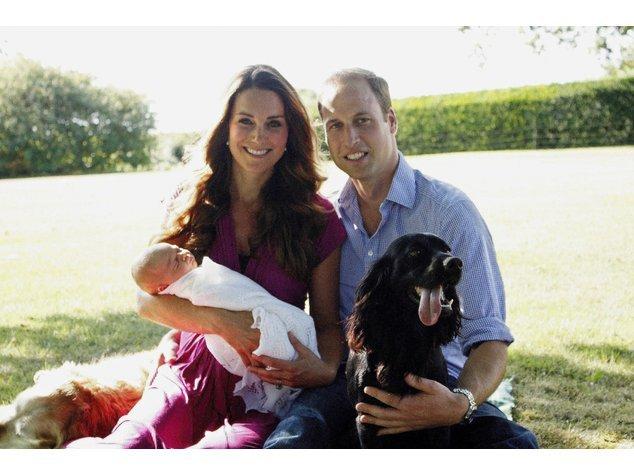 Kate Middleton und Prinz William mit Prinz George