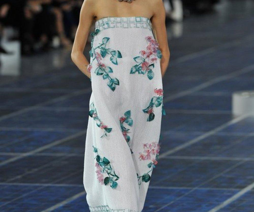 Paris Fashion Week: Florales Kleid von Chanel