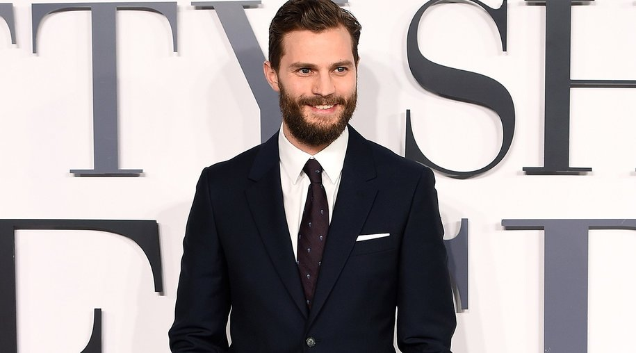 """LONDON, ENGLAND - FEBRUARY 12: Jamie Dornan attends the UK Premiere of """"Fifty Shades Of Grey"""" at Odeon Leicester Square on February 12, 2015 in London, England. (Photo by Ian Gavan/Getty Images)"""