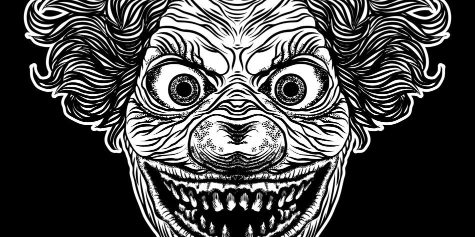 Clown-Tattoos Vorlage