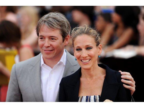 Matthew Broderick und Sarah Jessica Parker sind glücklich.