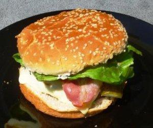 selbstgemachter Hamburger