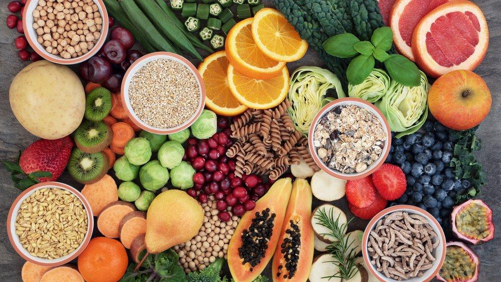 Lebensmittel mit niedrigem glykämischen Index