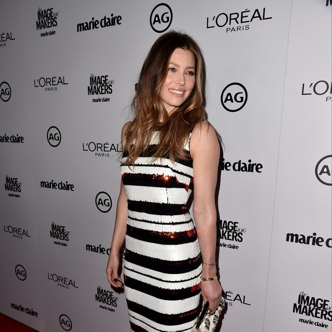 LOS ANGELES, CA - JANUARY 12:  Actress Jessica Biel attends the inaugural Image Maker Awards hosted by Marie Claire at Chateau Marmont on January 12, 2016 in Los Angeles, California.  (Photo by Alberto E. Rodriguez/Getty Images)