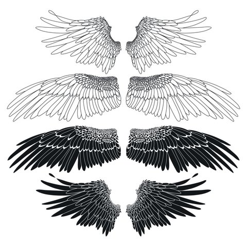 Tattoo vorlagen engelsflügel