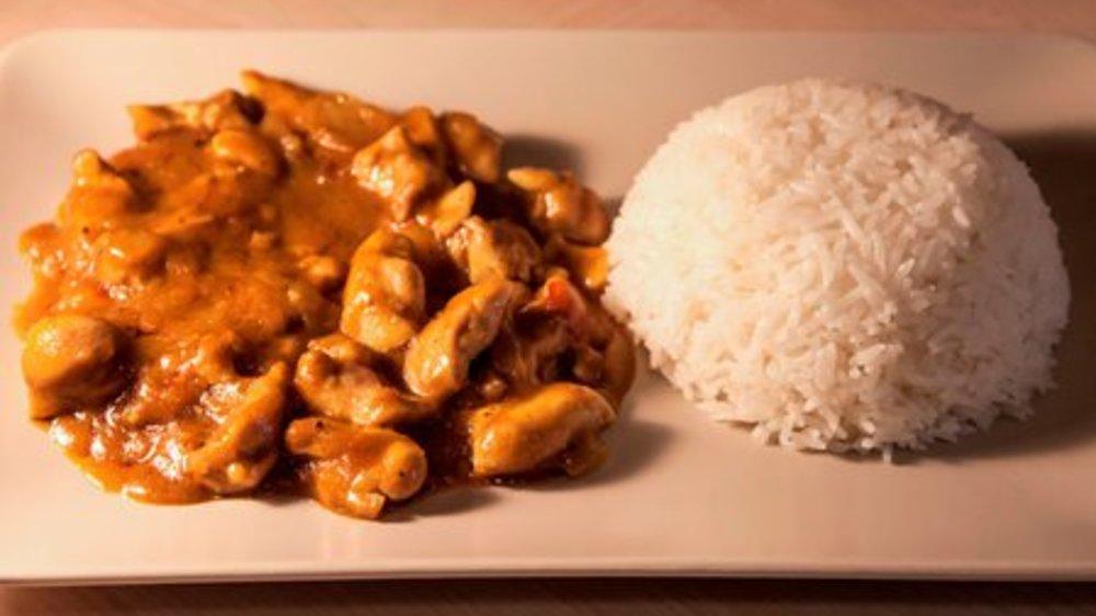 Hähnchengeschnetzeltes mit Curry