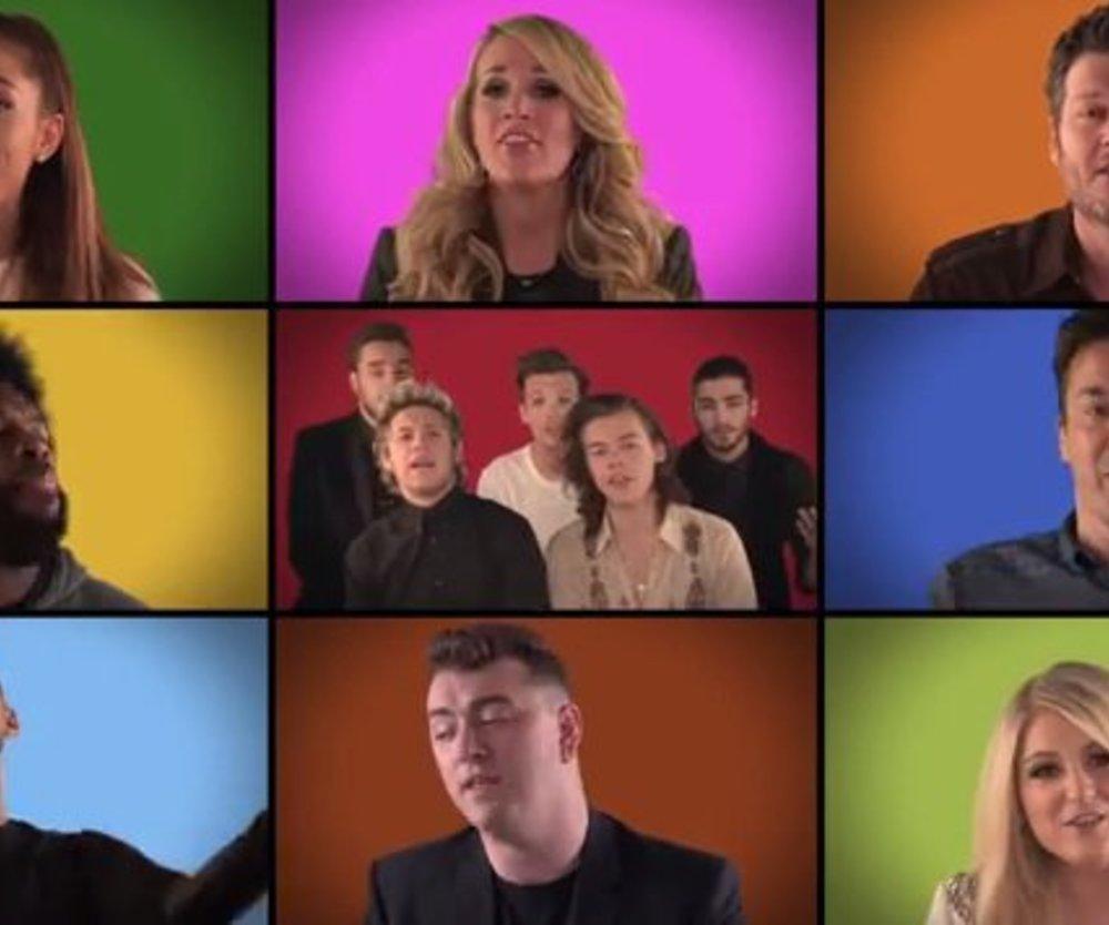 One Direction, Christina Aguilera, Usher beweisen Humor