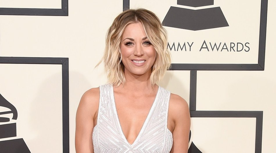 LOS ANGELES, CA - FEBRUARY 15: Actress Kaley Cuoco attends The 58th GRAMMY Awards at Staples Center on February 15, 2016 in Los Angeles, California. (Photo by Jason Merritt/Getty Images)