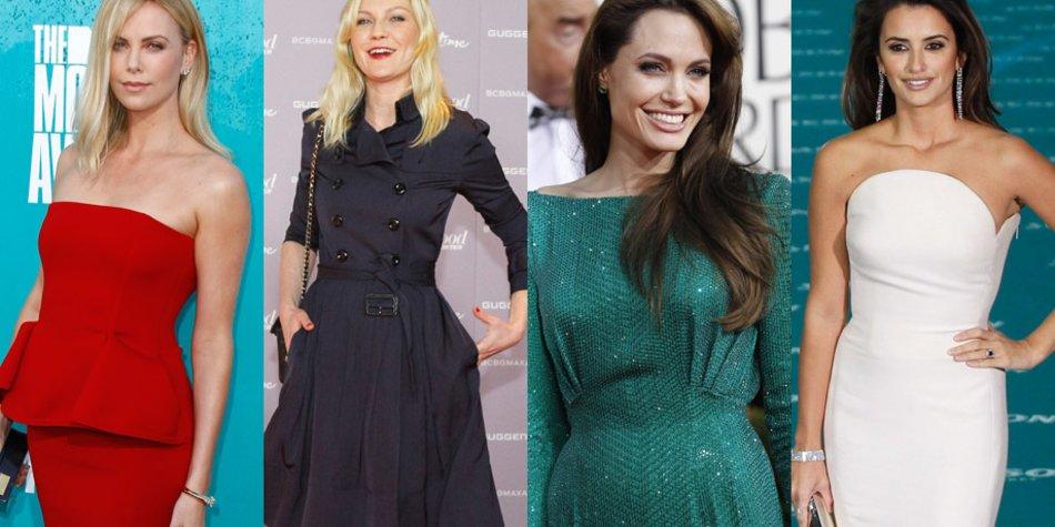 Charlize Theron, Kirsten Dunst, Angelina Jolie, Penelope Cruz