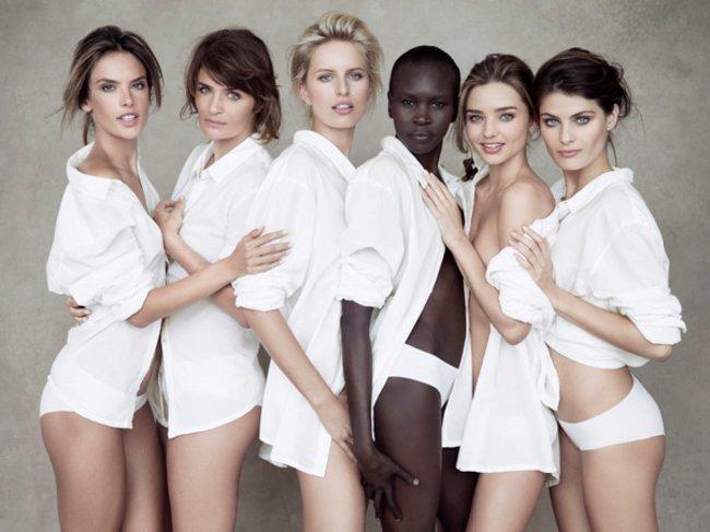 Alessandra Ambrosio, Helena Christensen, Karolina Kurkova, Alek Wek, Miranda Kerr und Isabeli Fontana