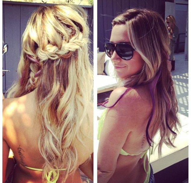 Ashley Tisdale mit einer Wasserfall-Frisur
