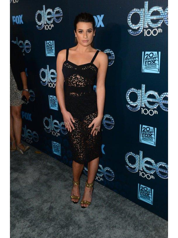 Lea Michele auf der Glee-Party