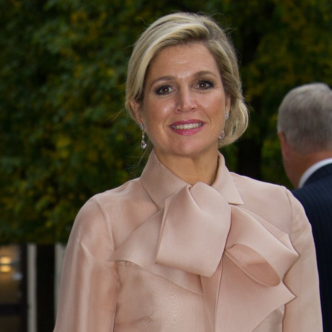 STOCKHOLM, SWEDEN - OCTOBER 14: Queen Maxima Of The Netherlands during an official visit on October 14, 2013 in Stockholm, Sweden. (Photo by Ivan da Silva/Getty Images)