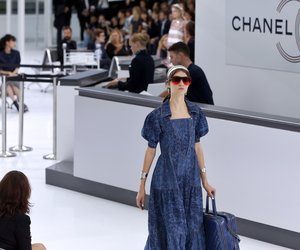 A model presents a creation for Chanel during the 2016 Spring/Summer ready-to-wear collection fashion show, on October 6, 2015 at the Grand Palais in Paris. AFP PHOTO / PATRICK KOVARIK (Photo credit should read PATRICK KOVARIK/AFP/Getty Images)