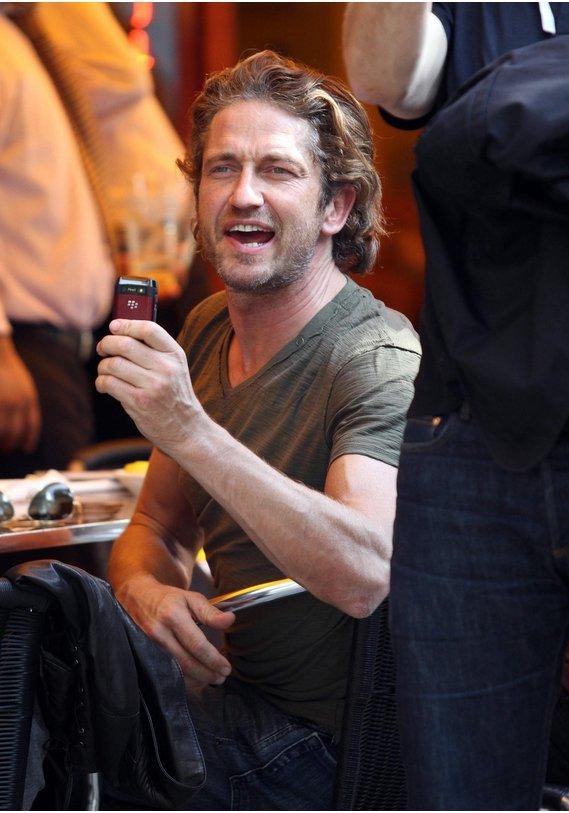 Gerard Butler beim Lunch in New York.