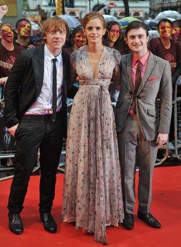 Rupert Grint, Emma Watson und Daniel Radcliffe 2009