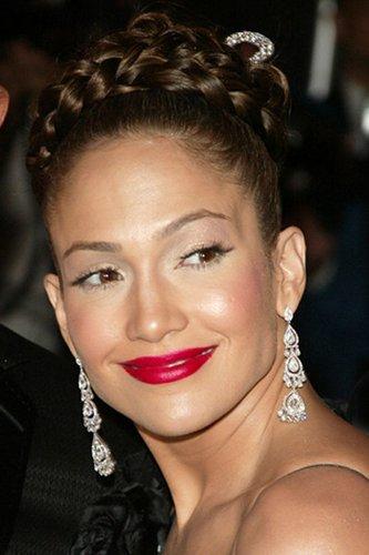 Jennifer Lopez mit geflochtenen Haaren
