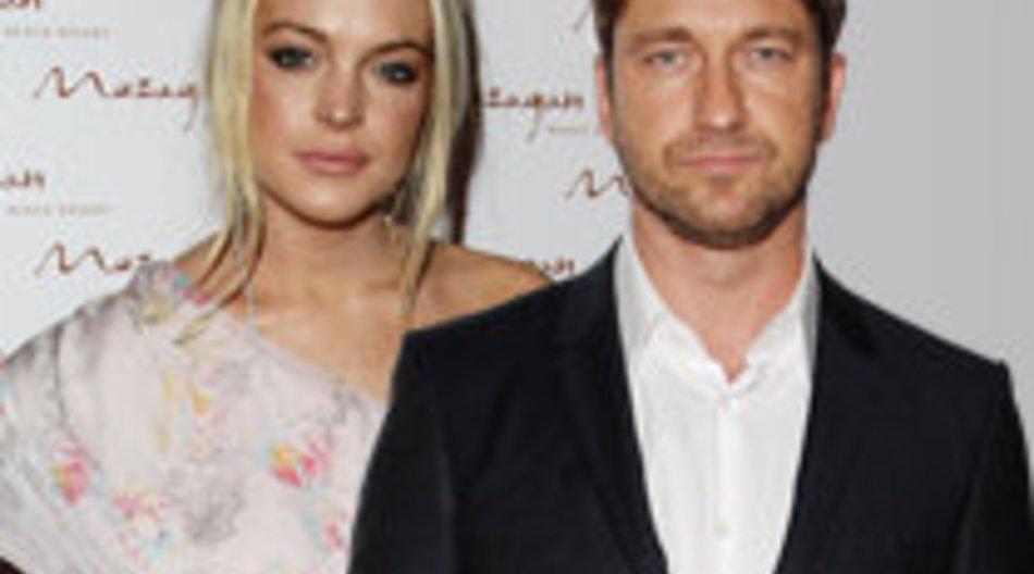 Lindsay Lohan knutscht mit Gerard Butler